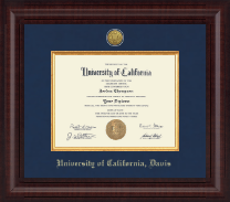 University of California Davis Diploma Frame - Presidential Gold Engraved Diploma Frame in Premier