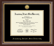 Armstrong Atlantic State University Diploma Frame - Gold Engraved Medallion Diploma Frame in Hampshire
