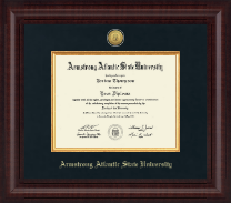 Armstrong Atlantic State University Diploma Frame - Presidential Gold Engraved Diploma Frame in Premier