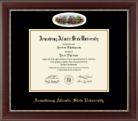 Armstrong Atlantic State University Diploma Frame - Campus Cameo Diploma Frame in Chateau