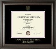 University of Minnesota Crookston Diploma Frame - Gold Embossed Diploma Frame in Acadia