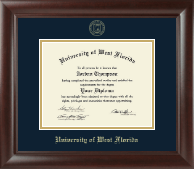University of West Florida Diploma Frame - Gold Embossed Diploma Frame in Rainier