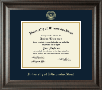University of Wisconsin-Stout Diploma Frame - Gold Embossed Diploma Frame in Acadia