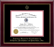 American Board for Certification in Orthotics, Prosthetics & Pedorthics Certificate Frame - Gold Embossed Certificate Frame in Gallery