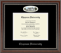 Chapman University Diploma Frame - Silver Campus Cameo Diploma Frame in Chateau