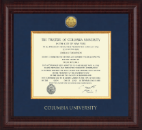 Columbia University Diploma Frame - Presidential Gold Engraved Diploma Frame in Premier