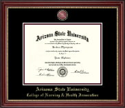 Arizona State University Diploma Frame - Masterpiece Medallion Diploma Frame in Kensington Gold