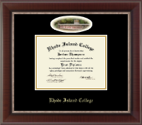 Rhode Island College Diploma Frame - Campus Cameo Diploma Frame in Chateau