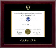 Chi Sigma Iota Counseling Honor Society Certificate Frame - Gold Embossed Certificate Frame in Gallery