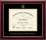 The National Society of Collegiate Scholars Certificate Frame - Gold Embossed Certificate Frame in Gallery