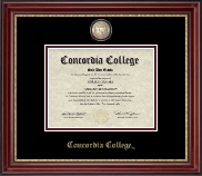 Concordia College Moorhead Diploma Frame - Masterpiece Medallion Diploma Frame in Kensington Gold