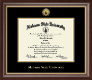 Alabama State University Diploma Frame - Gold Engraved Medallion Diploma Frame in Hampshire