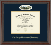 The George Washington University Diploma Frame - Campus Cameo Diploma Frame in Chateau