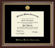 William Woods University Diploma Frame - Gold Engraved Medallion Diploma Frame in Hampshire