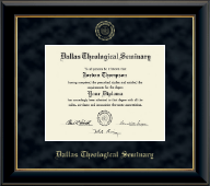 Dallas Theological Seminary Diploma Frame - Gold Embossed Diploma Frame in Onyx Gold