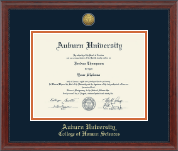 Auburn University Diploma Frame - Gold Engraved Medallion Diploma Frame in Signature