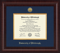 University of Pittsburgh Diploma Frame - Presidential Gold Engraved Diploma Frame in Premier