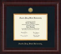 Austin Peay State University Diploma Frame - Presidential Gold Engraved Diploma Frame in Premier