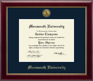 Monmouth University Diploma Frame - Gold Engraved Diploma Frame in Gallery