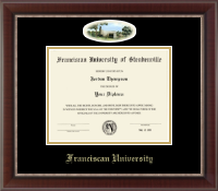 Franciscan University of Steubenville Diploma Frame - Campus Cameo Diploma Frame in Chateau