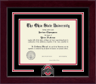The Ohio State University Diploma Frame - Athletic O Spirit Medallion Diploma Frame in Cordova
