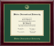 Webber International University Diploma Frame - Gold Embossed Diploma Frame in Gallery