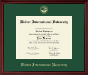 Webber International University Diploma Frame - Gold Embossed Diploma Frame in Camby