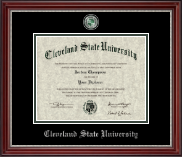 Cleveland State University Diploma Frame - Masterpiece Medallion Diploma Frame in Kensington Silver