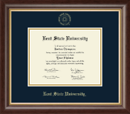 Kent State University Diploma Frame - Gold Embossed Diploma Frame in Hampshire