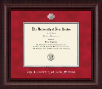 The University of New Mexico Diploma Frame - Presidential Etched Medallion Diploma Frame in Premier
