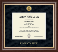 Knox College Diploma Frame - Gold Engraved Medallion Diploma Frame in Hampshire