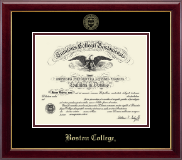 Boston College Diploma Frame - Gold Embossed Diploma Frame in Gallery