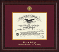 Boston College Diploma Frame - Presidential Gold Engraved Diploma Frame in Premier