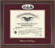 Boston College Diploma Frame - Campus Cameo Diploma Frame in Chateau
