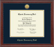 Choate Rosemary Hall Diploma Frame - Gold Engraved Medallion Diploma Frame in Signature