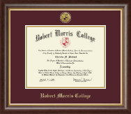 Robert Morris College in Illinois Diploma Frame - Gold Engraved Medallion Diploma Frame in Hampshire