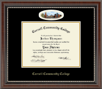 Carroll Community College Diploma Frame - Campus Cameo Diploma Frame in Chateau
