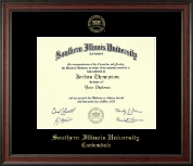 Southern Illinois University Carbondale Diploma Frame - Gold Embossed Diploma Frame in Studio