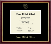 Emma Willard School Diploma Frame - Gold Embossed Diploma Frame in Galleria