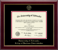 University of Nebraska Diploma Frame - Gold Embossed Diploma Frame in Gallery