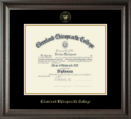Cleveland Chiropractic College Diploma Frame - Gold Embossed Diploma Frame in Acadia
