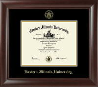 Eastern Illinois University Diploma Frame - Gold Embossed Diploma Frame in Rainier