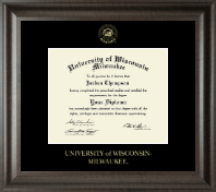 University of Wisconsin-Milwaukee Diploma Frame - Gold Embossed Diploma Frame in Acadia