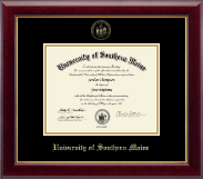 University of Southern Maine Diploma Frame - Gold Embossed Diploma Frame in Gallery