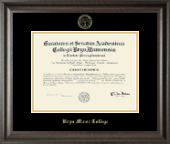 Bryn Mawr College Diploma Frame - Embossed Diploma Frame in Acadia