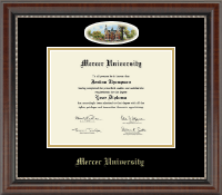 Mercer University Diploma Frame - Campus Cameo Diploma Frame in Chateau