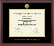 Kansas City University of Medicine and Biosciences Diploma Frame - 23K Medallion Diploma Frame in Signature