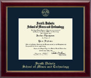 South Dakota School of Mines and Technology Diploma Frame - Gold Embossed Edition Frame in Gallery