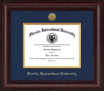 Florida International University Diploma Frame - Presidential Gold Engraved Diploma Frame in Premier