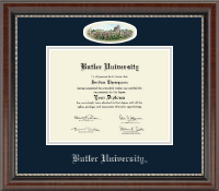 Butler University Diploma Frame - Campus Cameo Diploma Frame in Chateau